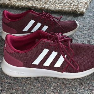 Adidas cloudfoam red sneakers